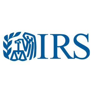 Internal Revenue Service logo.