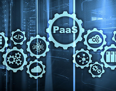 Depiction of PaaS, various gears.